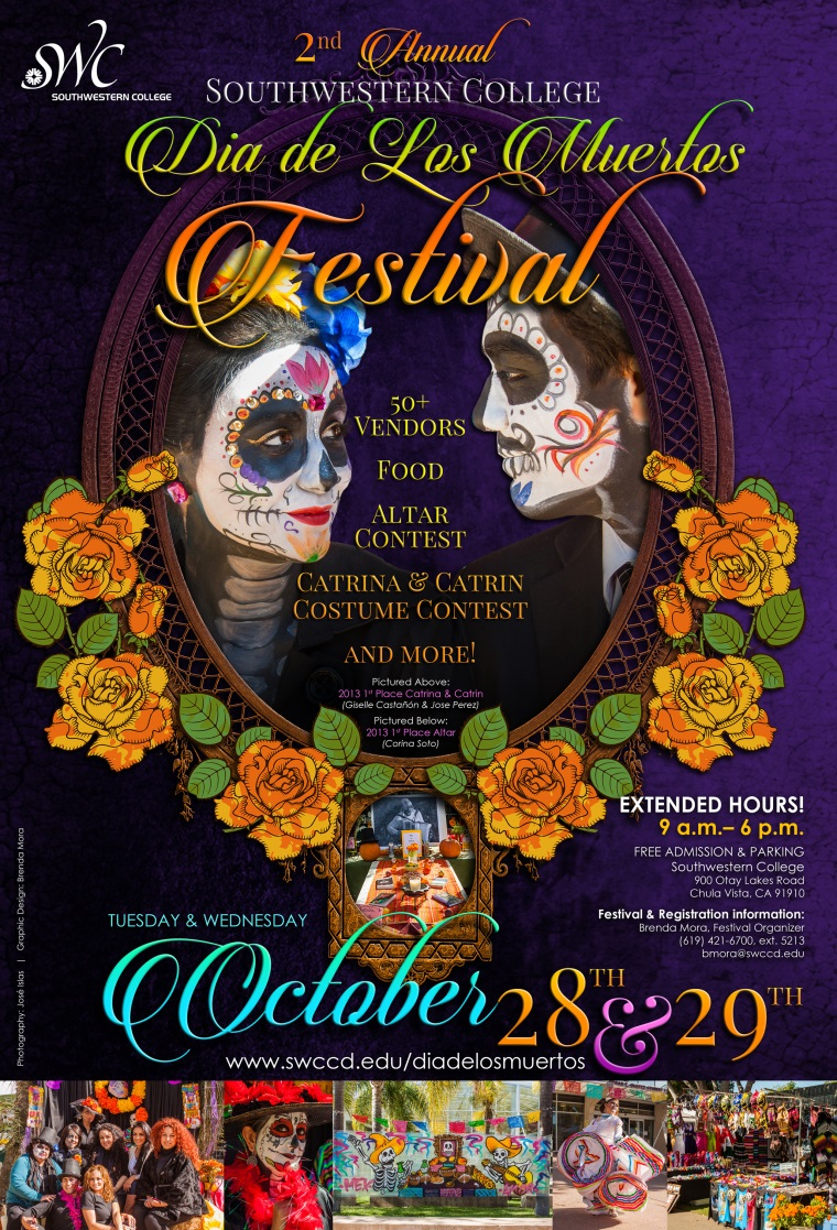 southwestern college dia de los muertos festival ddlm poster