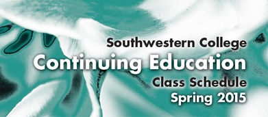 Continuing Education Class Schedule Spring 2015