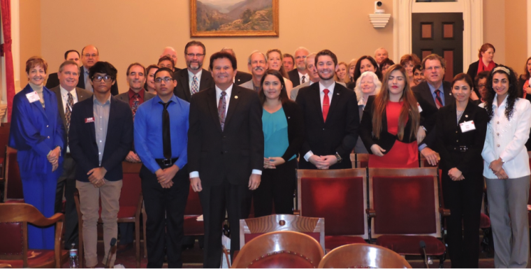 Students, trustees and CEOs from each of the SDICCCA colleges met with Sen. Marty Block last month in Sacramento