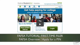 FAFSA First time filers Video