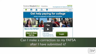 FAFSA Corrections Video