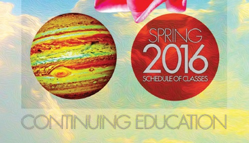 Continuing Education Class Schedule Spring 2016