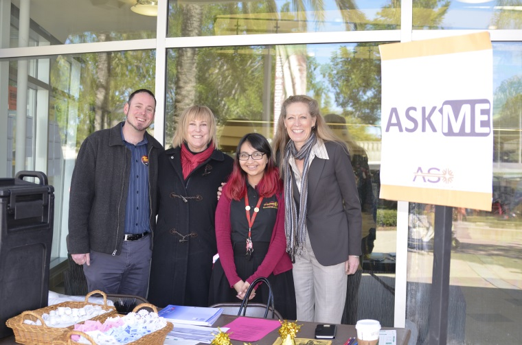 Joining me today at the ASO Ask Me table are Student Development Director Brett Robertson, Acting Dean of Student Services Dr. Malia Flood and ASO President Melissa Rodriguez