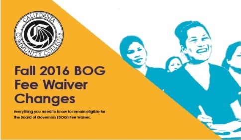 BOG Fee Waiver changes for Fall 2016