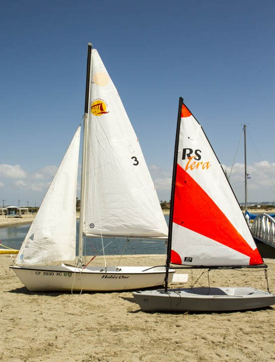 Sailboats on Beach