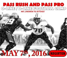 Pass Rush and Pass Pro Football Camp Tile Ad