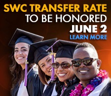 Southwestern College Transfer Rate to be Honored June 2
