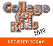 College for Kids 2016 button