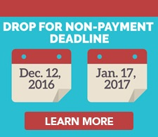 Drop for non payment deadlines