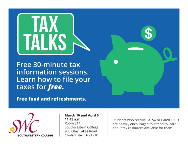 Tax Talk Flyer