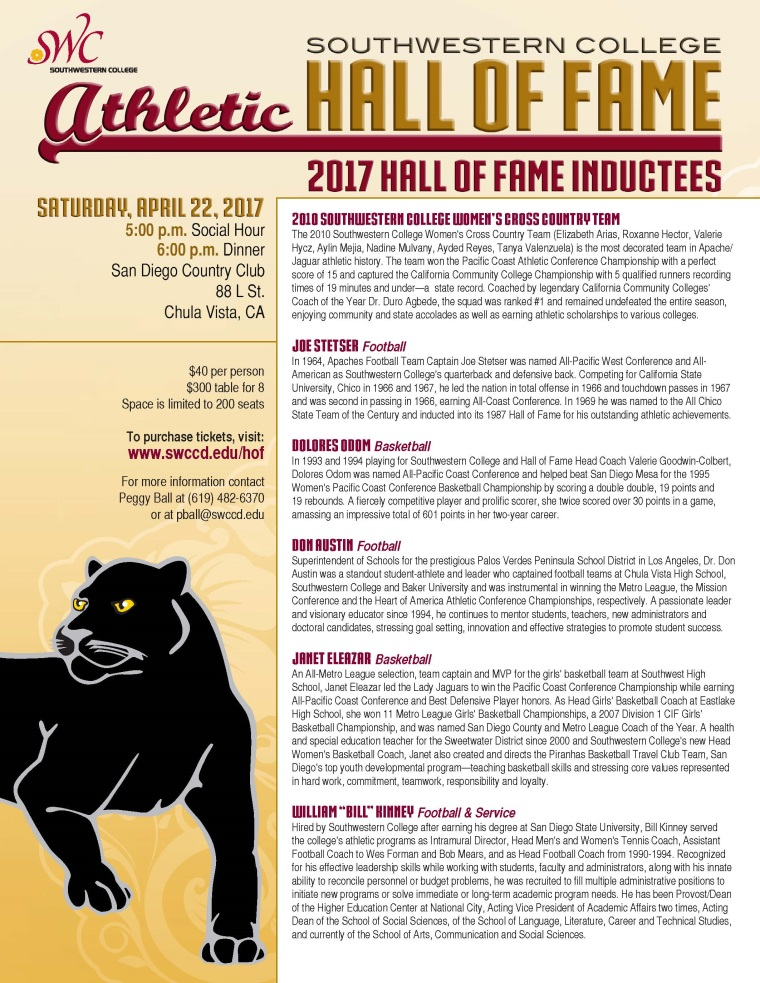Athletic Alumni Hall of Fame Celebration