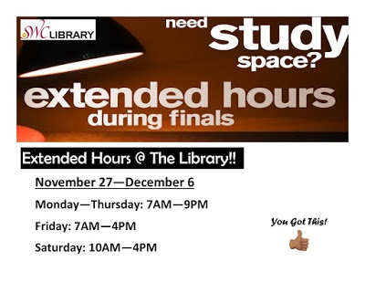 Library Extended Hours Fall 2017