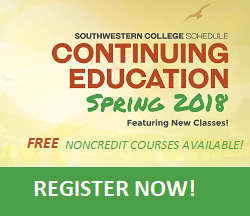 Continuing Education Course Schedule for Spring 2018!