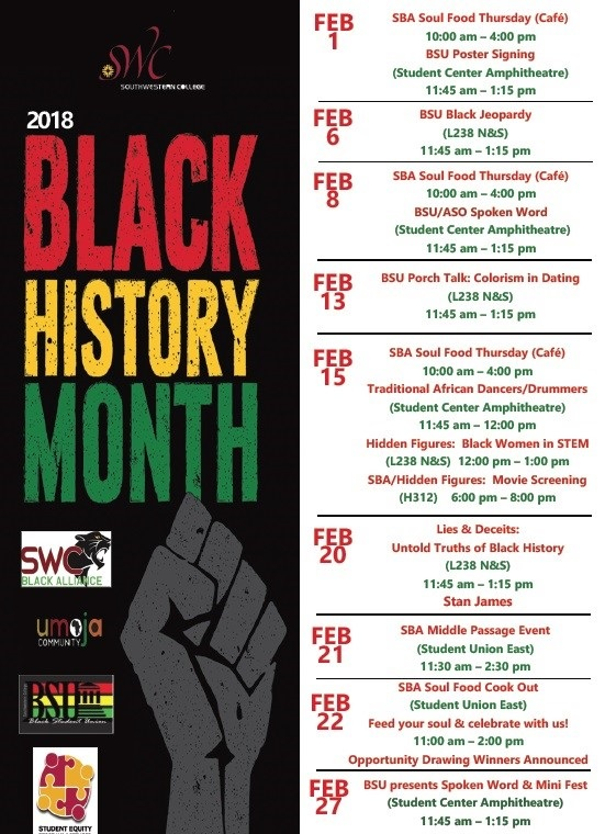 Black History Month events-2018