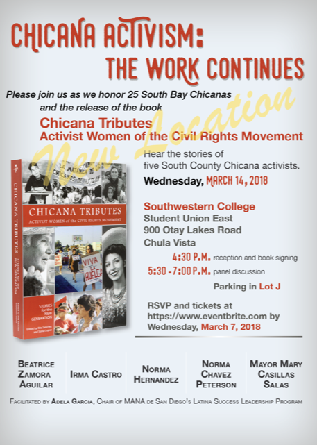 Chicana Activism:The Work Continues invitation-New Location