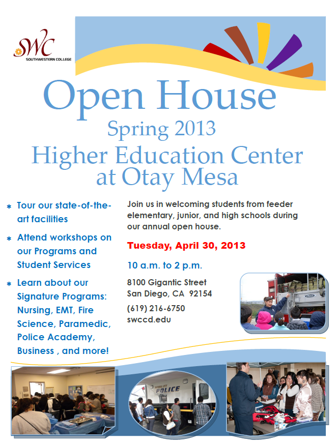 Open House 2013 Flyer