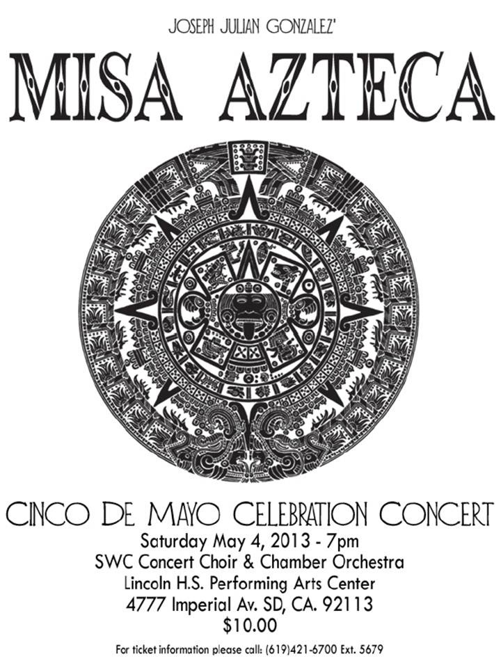 Aztec calendar with information on concert