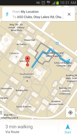 Ellucian Go Walking Directions Campus - Android