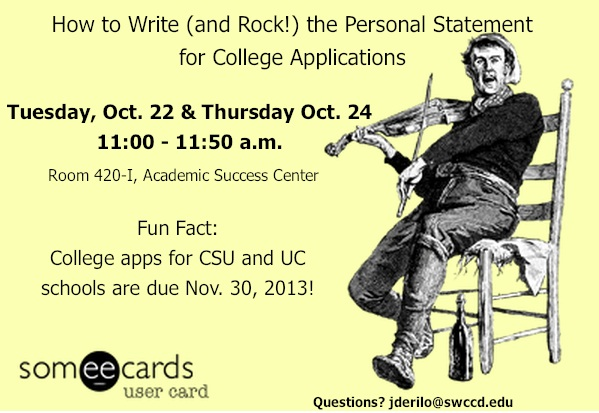How to Write (and Rock!) the Personal Statement for College Applications