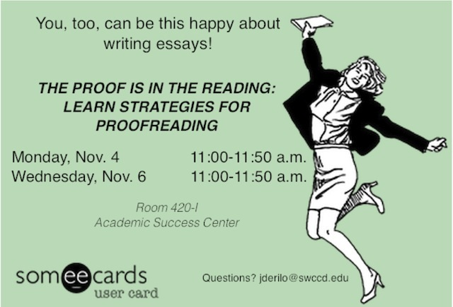 The Proof is in the Reading: Learn Strategies for Proofreading