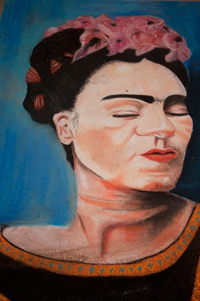 KAHLO – The finished chalk entry of winning 12-year-old artist Lidia Fernanda Vasquez