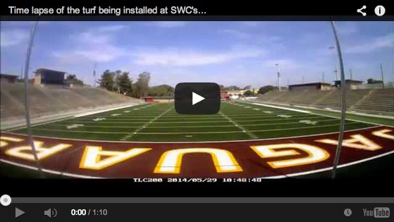[VIDEO] Time lapse of the new turf being installed at DeVore Stadium