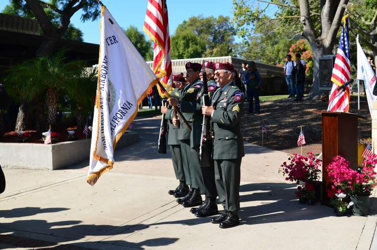 Honor Guard presenting the flag during the SWC Veterans Day Ceremony