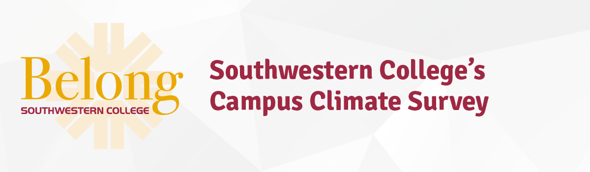 "Graphic that says ""Southwestern College's Campus Climate Survey"""