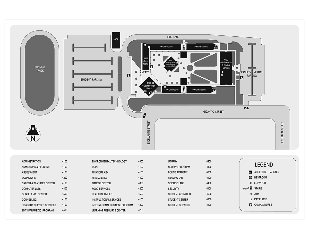 Campus Map for HEC Otay Mesa