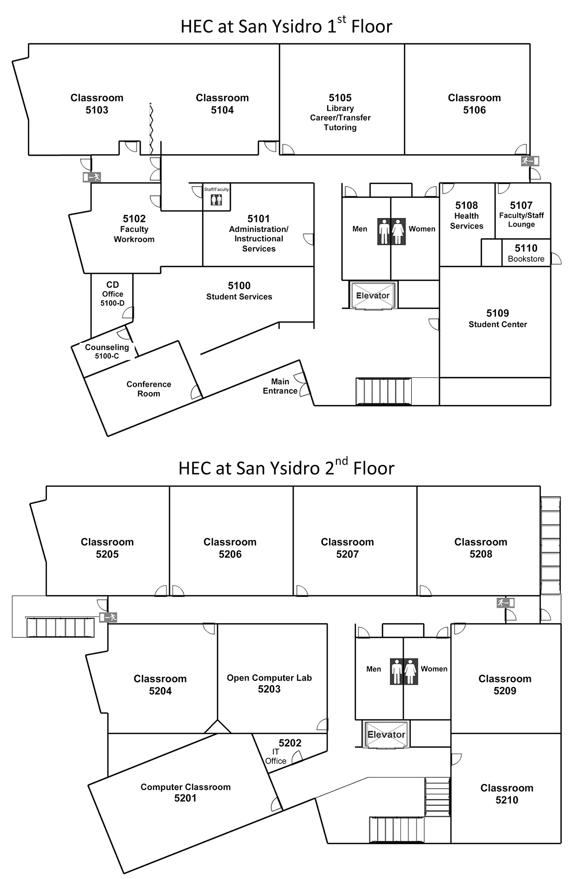 Campus Map for HEC San Ysidro