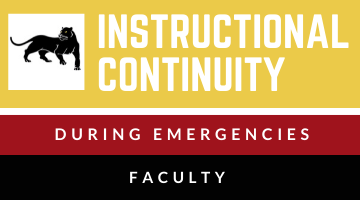 Contingency Instruction - FACULTY site