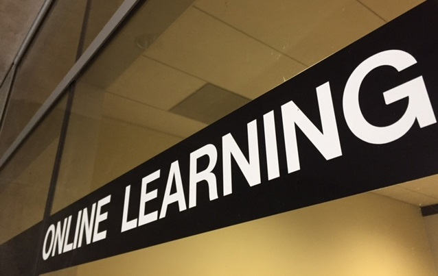 Online Learning Center sign