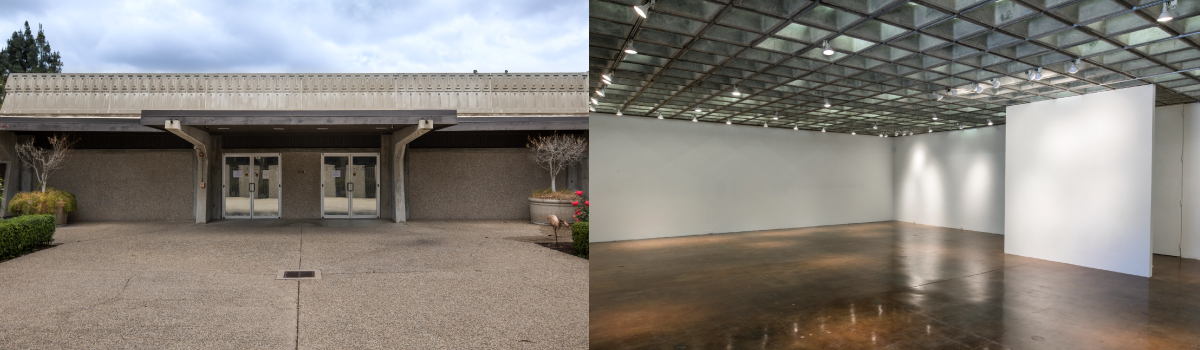 Banner Photo of interior and exterior of the SWC Art Gallery